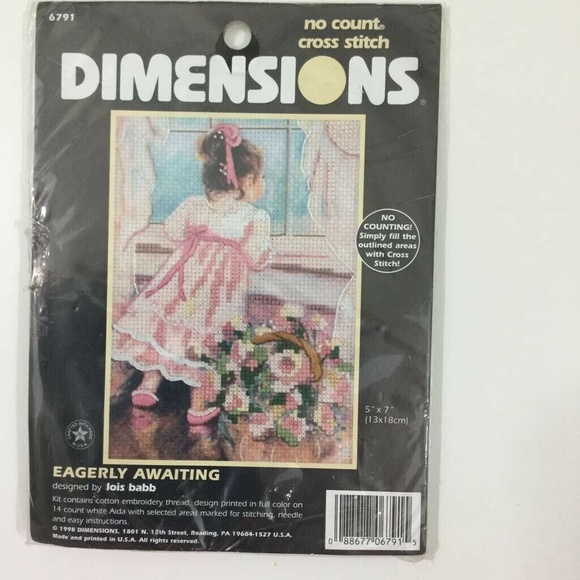 Dimensions Cross Stitch Kit Eagerly Awaiting 5x7 NWT